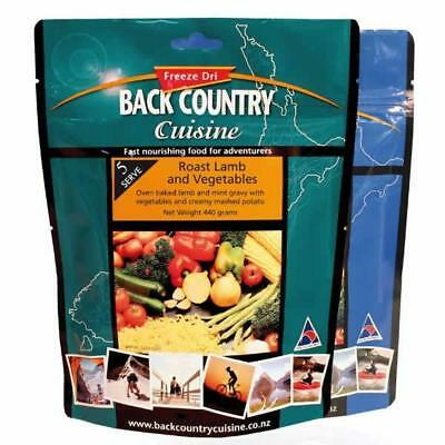 New - Back Country Cuisine Roast Lamb and Vegetables Freeze Dried Meal - 5 Serve