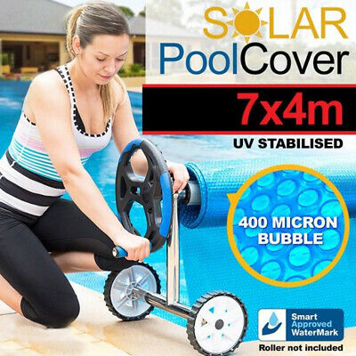 7x4m UV Stabilised Solar Swimming Pool Cover 400 micron outdoor Bubble Blanket