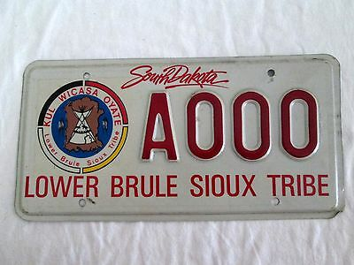 South Dakota Lower Brule Sioux Tribe Indian License Plate