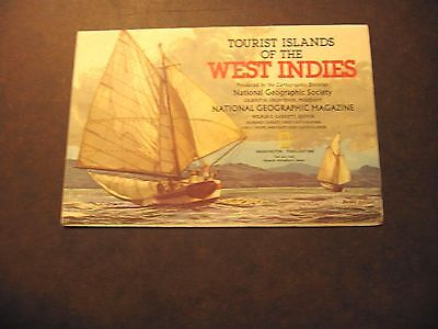 Feb. 1981 Tourist Islands of the West Indies National Geographic Society Map