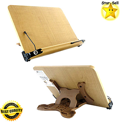 Book Stand Tabletop Display Portable Bookstand Kitchen Cookbook Holder Carrier