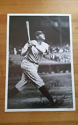 Babe ruth print signed Boston Red Sox New York Yankees poster baseball 68x100cm