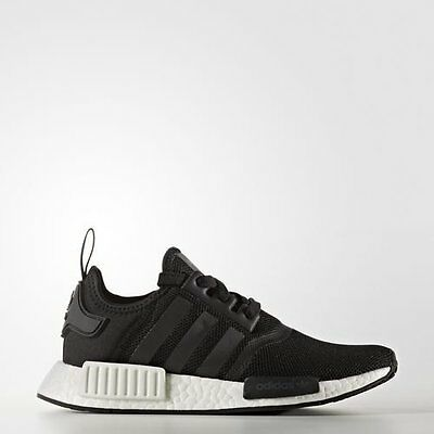 Adidas NMD R1 J Core Black White Mesh US Boys girl GS Youth Nomad Junior S80206