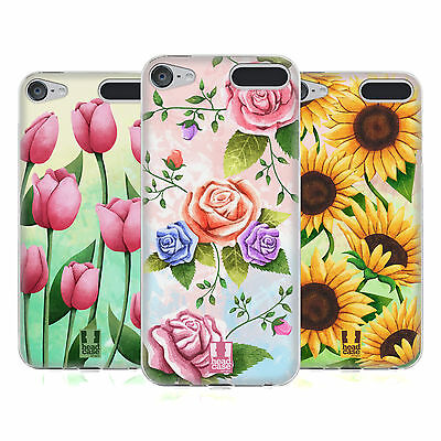 HEAD CASE DESIGNS ORGANIC FLORALS SOFT GEL CASE FOR APPLE iPOD TOUCH MP3