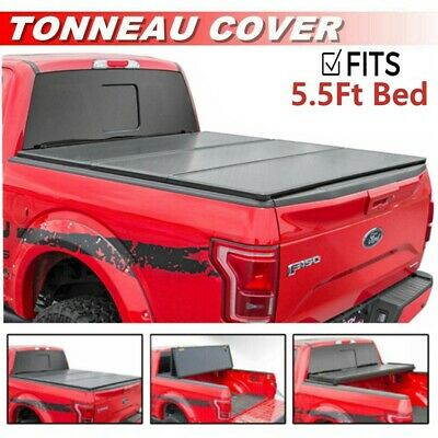 "Roll Up Lock Soft Tonneau Cover For 2004-2017 Ford F-150 5.5' / 66"" Short Bed"