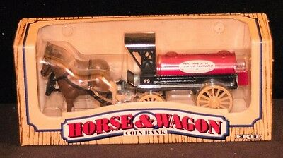 VINTAGE Horse and Wagon Coin Bank from True Value Hardware