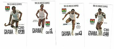 Ghana - 1989 Los Angeles Olympics 1984 - Sc 1112-5 MNH IMPERFORATE
