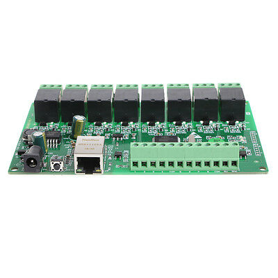 8 Channel Relay Network IP Relay Web Ethernet RJ45 interface Relay Dual Control