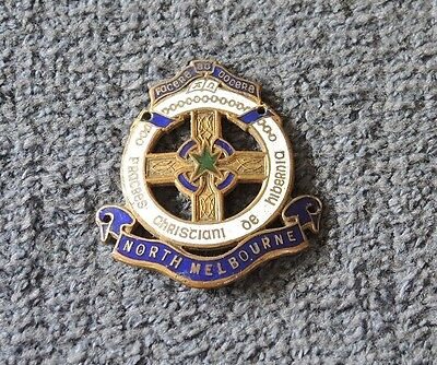 1950s? CHRISTIAN BROTHERS COLLEGE NORTH MELBOURNE BADGE STOKES & SONS #14