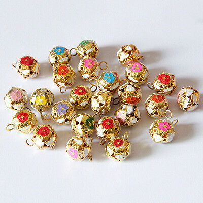 12mm Hollow Pet Dog Bell Small Jingle Bell Fit Festival Jewelry Pendant Decor FT