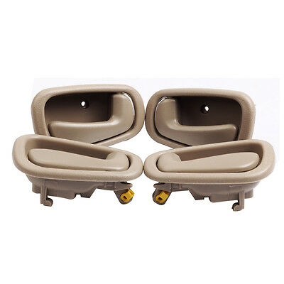 For 1998-2002 Toyota Corolla Prizm Interior Door Handles Beige 2 Left & 2 Rights