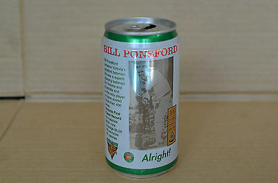 Carlton Light Bill Ponsford 100 Years Of Cricket Collectors 375Ml Beer Can