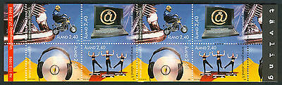 ALAND 1998 stamp booklet Active Youth um (NH) mint Music Motorcycles Aerobics IT