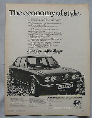 1975 Alfa Romeo Alfetta Original advert No.2