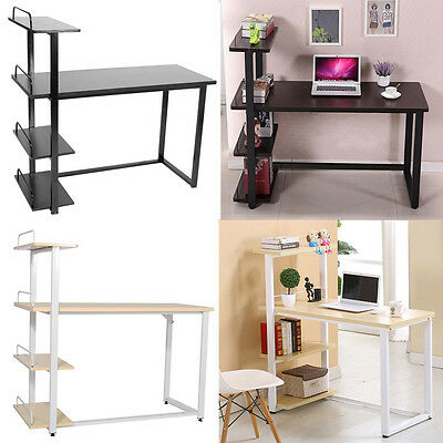 New Home Office Computer Study Desk PC Table Workstation with Bookcase Shelf