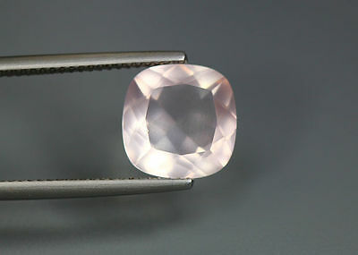 3.53 Cts_World Class Very Rare Gemmy_100 % Natural Rose Quartz Faceted_Brazil