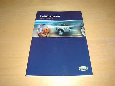 LAND ROVER SERVICE BOOK FREELANDER HSE SE SPORT TD4 E S Owners Manual Handbook