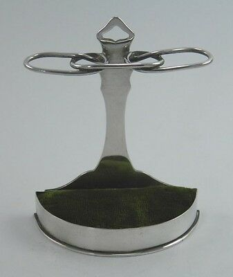 Edwardian silver walking stick stand hat pin holder William Comyns London 1904