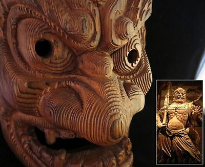 Japanese mask Nio Buddhist Warrior Guardian Protector of Buddha Traditional wood
