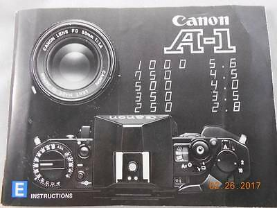 Vintage Canon A-1 Camera Owner Guide Manual 100 pages 1970 Japan Ships Fast
