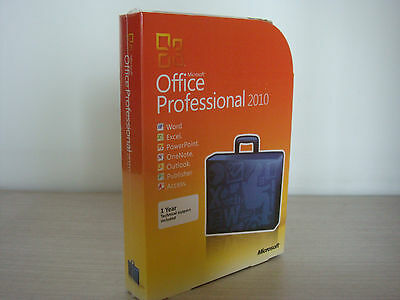 Factory Sealed Microsoft Office Professional 2010 Retail Full Version