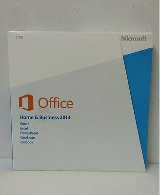 Factory Sealed Microsoft Office Home and Business 2013 - 32/64bit
