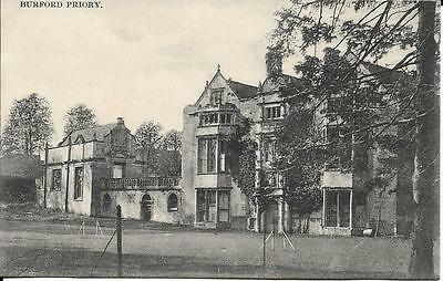 OLD POSTCARD Burford Priory Oxfordshire