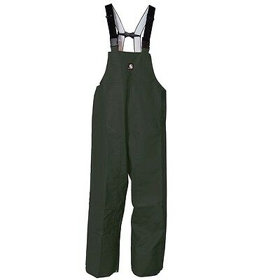 Carhartt Men's Big & Tall Mayne Lightweight PVC Bib Overalls Green