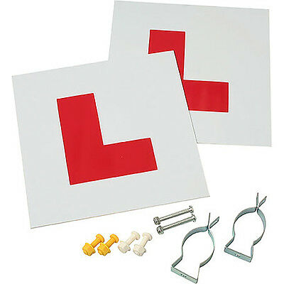 Gear Gremlin Motorcycle Motorbike Comprehensive L Plate Kit With Screws and Nuts