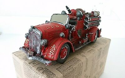 Fire engine collectible, ceramic model giftware ornament, boxed
