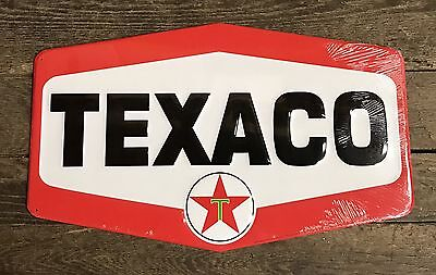 "TEXACO Vintage Embossed Tin Metal Sign, 14.5"" x 23.5"""