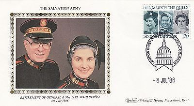 (97505) GB Benham Salvation Army Cover General Wahlstrom Retirement 8 July 1986