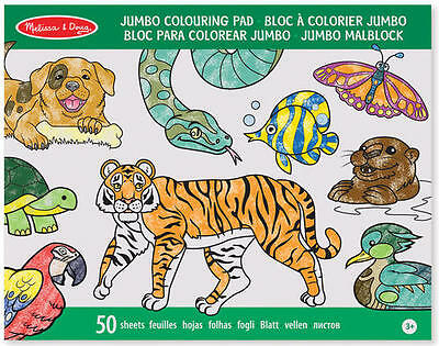 Melissa & Doug JUMBO COLOURING PAD Toddler/Child Craft/Colouring Gift - New