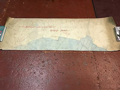 Antique Large Ordnance Survey Map Thringstone Coalville Leicestershire Linen