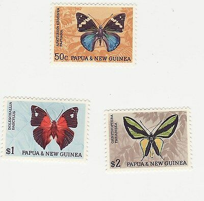 papua and New Guinea 1966 defins the 3 top values mint.