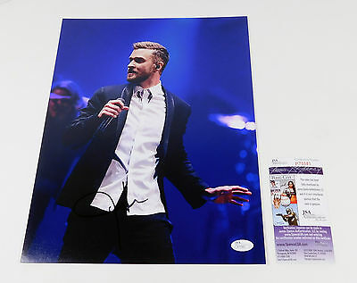 Justin Timberlake Signed 11 x 14 Color Photo JSA Auto