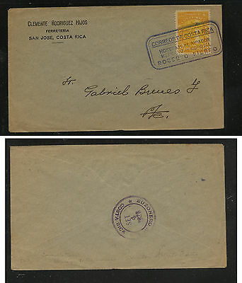 Costa  Rica  local use cover  1928    nice  cancel         MS0111