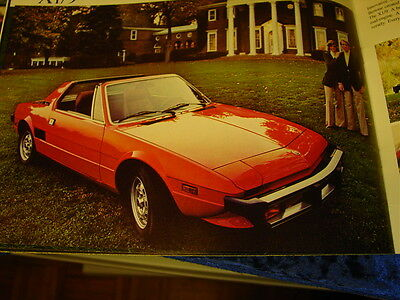 """1976 Fiat Brochure , 128 131 124 Sport Spider X1/9,  22 Pages , 8 1/2"""" X 11"""""""