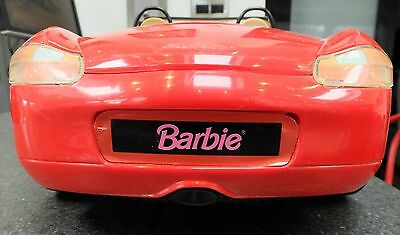 BARBIE  PORSCHE BOXSTER Mattel 1998 Motorized Roof Car