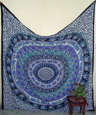 Indian Decor Mandala Tapestry Gypsy Wall Hanging Hippie Throw Bohemian Bedspread