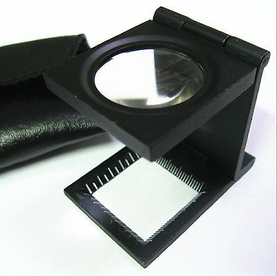 Foldable Bench Type Magnifier 10X with Scale