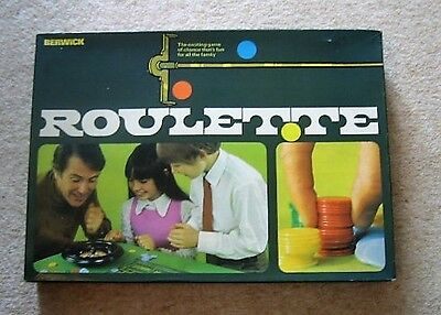 VINTAGE 1970s BERWICK TOY BOXED ROULETTE GAME COMPLETE