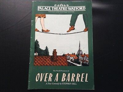 Palace Theatre Watford programme for Over a Barrel  1990