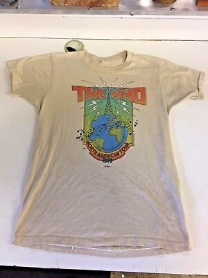 Vintage 1979 The Who North American Tour Concert Shirt M Collier Explosion Music