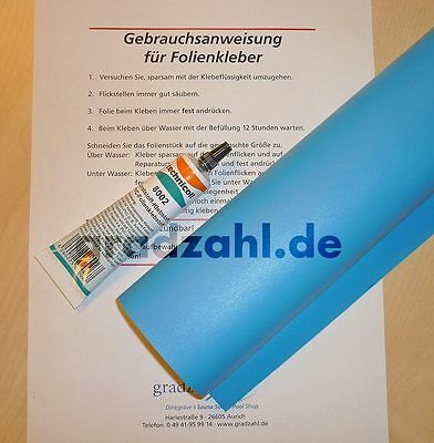Poolfolie folie kleber flicken reparatur set for Poolfolie blau