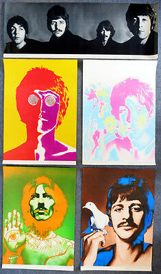 BEATLES - original complete Richard Avedon Poster Set - Germany 1967 - Stern