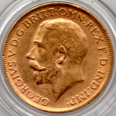 1927 FULL Gold  Sovereign King George V Minted in Pretoria, South Africa