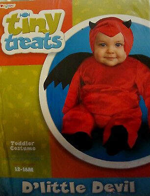 Baby Halloween RED DEVIL costume 12-18 MONTHS TINY TREATS TODDLER BOY OR GIRL