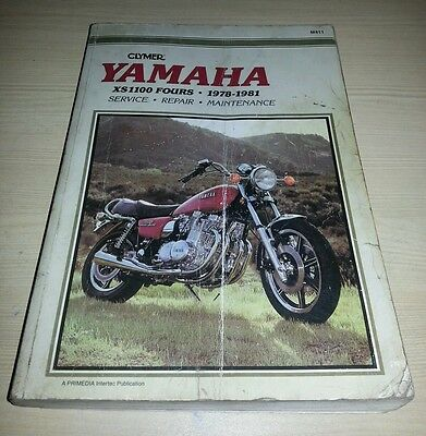 YAMAHA XS1100 Workshop Manual Clymer 1978-1981 Good Used Condition FREE POSTAGE