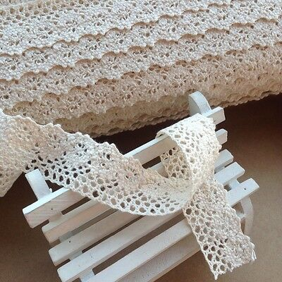Cotton Lace Crochet Trim Edge- White Cream Border Crafts Sewing Patchwork